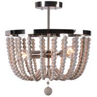 Kenroy Lighting 93136BS Dumas 3 Light 20 inch Brushed Steel Semi Flush Mount Ceiling Light