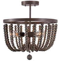 Kenroy Lighting 93136GBRZ Dumas 3 Light 20 inch Golden Bronze Semi Flush Mount Ceiling Light
