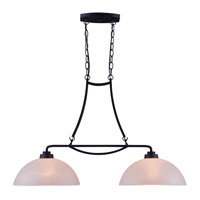 Kenroy Lighting Dynasty 2 Light Island Light in Burnished Bronze 93192BBZ