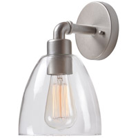 Steam Fitter 1 Light 7 inch Galvanized Metal Sconce Wall Light