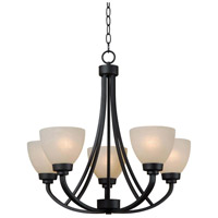 Dynasty 5 Light 25 inch Burnished Bronze Chandelier Ceiling Light