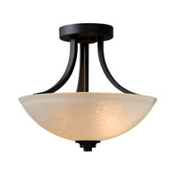 Dynasty 2 Light 13 inch Burnished Bronze Semi-Flush Ceiling Light