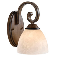 Kenroy Lighting Terrain 1 Light Sconce in Aruba Teak 93210AT
