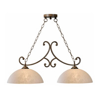 Kenroy Lighting Terrain 2 Light Island Light in Aruba Teak 93212AT