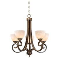 Kenroy Lighting Terrain 5 Light Chandelier in Aruba Teak 93215AT
