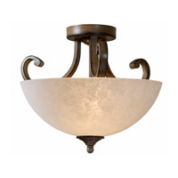 Kenroy Lighting Terrain 2 Light Semi Flush in Aruba Teak 93217AT