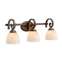 Kenroy Lighting Terrain 3 Light Vanity in Aruba Teak 93218AT