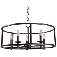 Kenroy Lighting 93265ORB Arlen 5 Light 27 inch Oil Rubbed Bronze Chandelier Ceiling Light