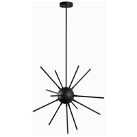 Atom LED 28 inch Forged Graphite Chandelier Ceiling Light
