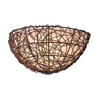 Kenroy Lighting Thicket 1 Light Sconce in Rattan 93300RAT