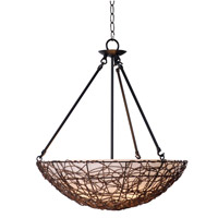 Kenroy Lighting Thicket 3 Light Pendant in Rattan 93303RAT