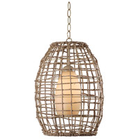 Kenroy Lighting Seagrass 1 Light Pendant in Tan Rope 93316TN