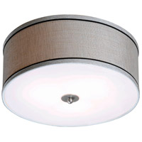 Margot 2 Light 15 inch Brushed Steel Flush Mount Ceiling Light