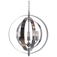 Kenroy Lighting 93349CH Jaquelyn 5 Light 28 inch Chrome Chandelier Ceiling Light