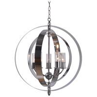 Kenroy Lighting 93349CH Jaquelyn 5 Light 28 inch Chrome Chandelier Ceiling Light