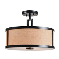 Kenroy Lighting 93361BRZ Keen 2 Light 16 inch Bronze Semi Flush Mount Ceiling Light