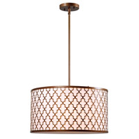 Tripoli 3 Light 18 inch Antique Gold Pendant Ceiling Light