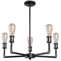 Ancestry 5 Light 25 inch Black Chandelier Ceiling Light
