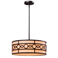Kenroy Lighting Vista 3 Light Pendant in Oil Rubbed Bronze 93383ORB
