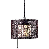 Kenroy Lighting Tanglewood 1 Light Outdoor Pendant in Black 93393BRZ