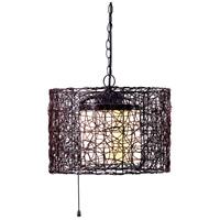 Kenroy Lighting 93393BRZ Tanglewood 1 Light 18 inch Bronze Outdoor Pendant