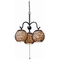 Castillo 3 Light 21 inch Bronze Outdoor Chandelier