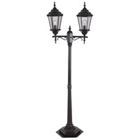 Villa 2 Light 75 inch Oil Rubbed Bronze Post Lantern, 2 Head, Portable