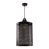 Kenroy Lighting Sorcerer 1 Light Pendant in Black Zinc 93440BLZ