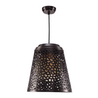 Kenroy Lighting Tunis 1 Light Pendant in Dark Gray Zinc 93442DGZ