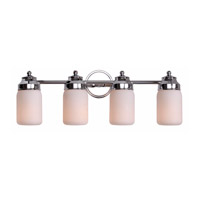 Midtown 4 Light 9 inch Chrome Vanity Wall Light