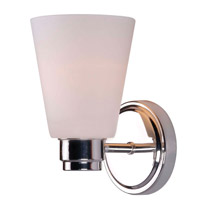 Kenroy Lighting Rockdale 1 Light Sconce in Polished Nickel 93471PN