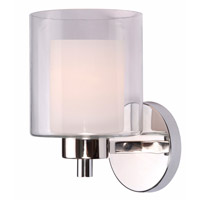 Kenroy Lighting Orienta 1 Light Sconce in Polished Nickel 93491PN