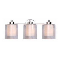 Kenroy Lighting Orienta 3 Light Vanity in Polished Nickel 93493PN