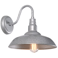 Kenroy Lighting 93507GAL Dale 15 inch Galvanized Outdoor Wall Light Large