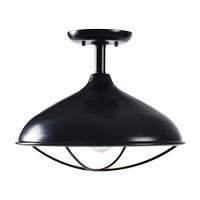Kenroy Lighting 93520ORB Warner 1 Light 15 inch Oil Rubbed Bronze Semi Flush Mount Ceiling Light