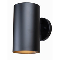 Kenroy Lighting Bullet Dark Sky 1 Light Wall Lantern in Black 93540BL
