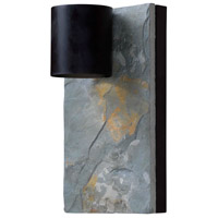 Kenroy Lighting Frederick Dark Sky 1 Light Wall Lantern in Oil Rubbed Bronze with Slate 93541ORB