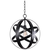 Global 1 Light 16 inch Black Pendant Ceiling Light