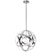 Kenroy Lighting 93551CH Global 1 Light 19 inch Chrome Pendant Ceiling Light
