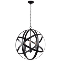Global 3 Light 24 inch Black Pendant Ceiling Light