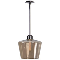 Abra 1 Light 14 inch Aged Metal Pendant Ceiling Light in Champagne Glass