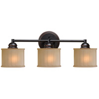 Barney 3 Light 7 inch Oil Rubbed Bronze Vanity Wall Light