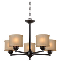 Barney 5 Light 24 inch Oil Rubbed Bronze Chandelier Ceiling Light