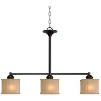 Kenroy Lighting Barney 3 Light Island Light in Oil Rubbed Bronze 93577ORB
