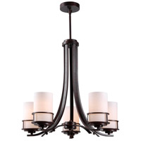 Theo 5 Light 24 inch Polished Copper Chandelier Ceiling Light