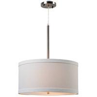 Kenroy Lighting 93622BS Paige 2 Light 20 inch Brushed Steel Pendant Ceiling Light