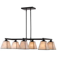 Kenroy Lighting Capell 6 Light Island Light in Bronze 93636BRZ