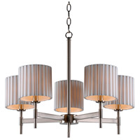 Grace 5 Light 23 inch Brushed Steel Chandelier Ceiling Light