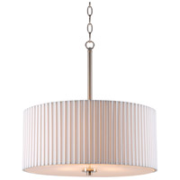 Grace 3 Light 18 inch Brushed Steel Pendant Ceiling Light