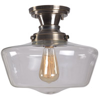 Cambridge 1 Light 12 inch Aged Metal Flush Mount Ceiling Light